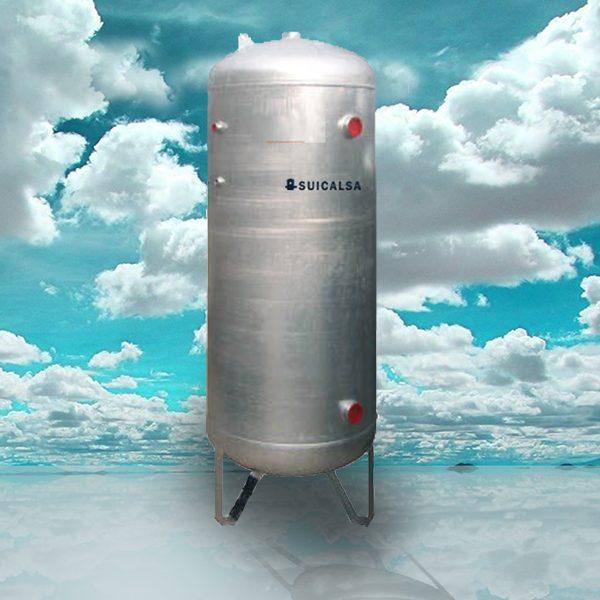 deposito aire comprimido acero galvanizado suicalsa